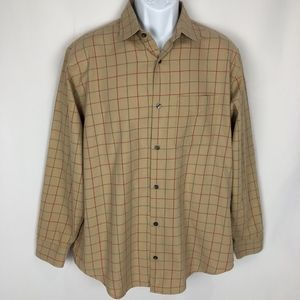 Banana Republic Men's Plaid Button Front Shirt